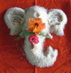 Ganesh Sthapana Puja guide with audio Rangoli Designs Flower, Rangoli Ideas, Colorful Rangoli Designs, Rangoli Designs Diwali, Diwali Rangoli, Flower Rangoli, Easy Rangoli, Ganesh Rangoli, Rangoli Patterns