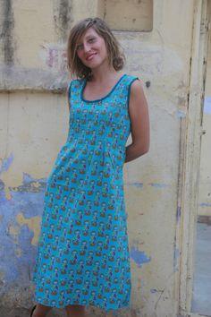 Blue Minimalist Casual Cotton Summer Dress by LoudandProudLondon, $35.00