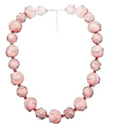 Chopard pink sapphire, pink opal and diamond necklace from the Red Carpet collection.