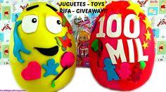 Huevo Sorpresa Gigantes: Sorteo Rifa Giveaway de Juguetes Sorpresa Sin A...