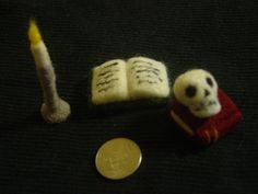 Spooky Little Needle Felted Still Life Four Pieces by HorriblyPrecious on Etsy