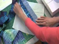 String Piecing: This fun patchwork method results in blocks that are each unique.  It's similar to paper foundation piecing, without lines to stitch on.