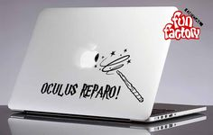 Oculus Reparo Harry Potter Macbook Air Pro Decal Sticker by FunDecalFactory on Etsy