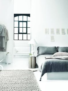 my scandinavian home: Bed time in serene blues and greys 01