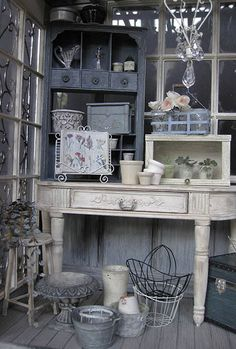 ♕ exquisite dollhouse potting room