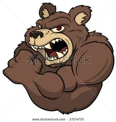 Angry cartoon bear. by Memo Angeles, via ShutterStock