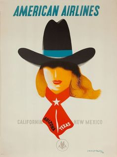 DP Vintage Posters - American Airlines Travel Poster, [[California ...