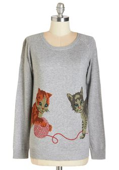 Cats But Not Least Sweater, #ModCloth