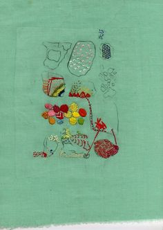lyndseymcdougall:  embroidery and etching, April 2012