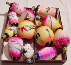 Japanese Lantern Lights 50s Retro