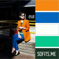 """Это сочетание способны """"выдержать"""" только очень яркие девушки. Любую другую девушку оно забьет: останется один жакет. Выход зависит от вашей внешности: более темные или более мягкие (не такие яркие) цвета, а белый у лица, наоборот, увести в молочный и цвет слоновой кости. Colour Combinations Fashion, Fashion Colours, Colorful Fashion, Color Combinations, Mode Ab 50, Color Balance, Colour Pallete, Monochrom, Colourful Outfits"""