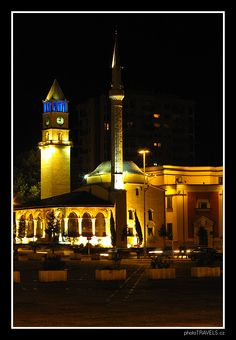 Ethem Bey Mosque located on Skanderbeg Square in Tirana, capital of Albania, by dsky