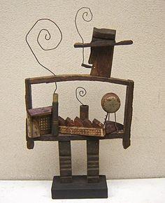 L'industriel sculpture bois flotté  Christophe