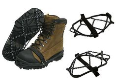 Glodeals(TM) 2x Anti-slip Ice Cleats Shoe Boot Tread Grips Traction Crampon Chain Spike Sharp Snow Walking Walker *** You can get more details by clicking on the image.