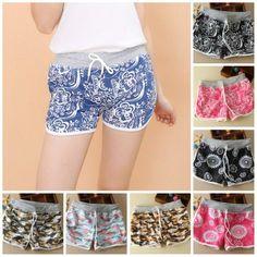 Summer season Hot Sales Women Shorts Print Fashion Casual Short Free One Size Women's Shorts Free Shipping Cotton Shorts H141