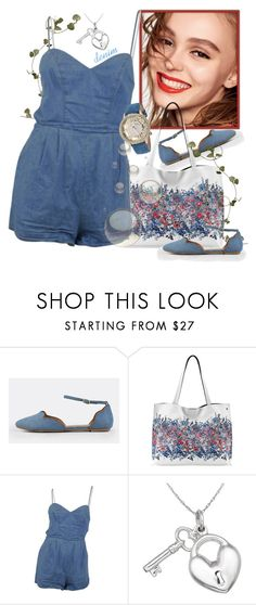 """denim love"" by runners ❤ liked on Polyvore featuring Naomi Campbell, Elliott Lucca, Lovers + Friends, Gioelli and Betsey Johnson"