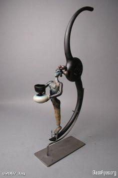 J.A.G. African Study   P1PELINE Glass Pipes, handblown WOW