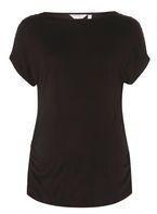 Womens **Maternity Black Pearl Sleeve Top- Black