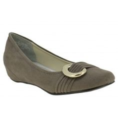 Low heel pump shoe for women, a dressy, fashion shoe in grey color by Annie at $49.00