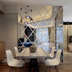 3d adesivos de parede que vivem decoração da casa padrão moderno casa diy adesivo de parede de acrílico espelhado autocolante decorativo em Adesivos de parede de Home & Garden no AliExpress.com | Alibaba Group