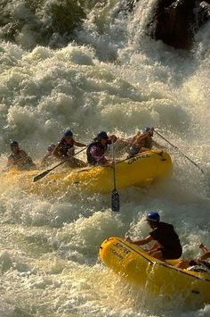 River Rafting: To go against the rapids of Mother Nature—you can! - this is what Randy and I love, it's great as Randy has his own raft and we love to take friends!