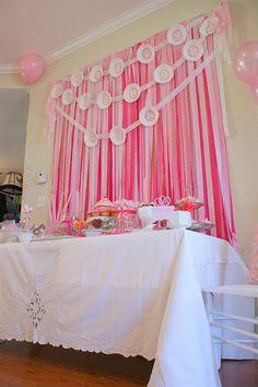 Streamer wall backdrop- for @Lindsay Wagners next baby shower....maybe sometime this century ;)