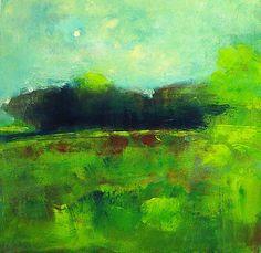 "Blue-Green #3 by Richard Morin Oil ~ 12"" x 12"""
