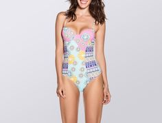 Kufra Embroidered Print One Piece || Turn more than a few heads in this sexy underwire one piece with a bold mix of intricate prints designed to accentuate all the right places.
