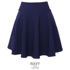 Elasticized Skater Skirt ($18) ❤ liked on Polyvore featuring skirts, bottoms, saias, blue skater skirt, skater skirt, qnigirls, elastic waist skirt and blue circle skirt