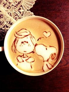 Snoopy coffee art