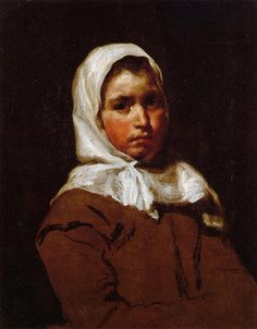 Young Peasant Girl, Diego Velázquez Private collection Painting - oil on canvas Classic Paintings, Spanish Painters, Art Painting, Spanish Artists, Western Art, Artist, Painting, Portrait Painting, Portrait Art