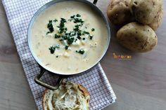 Rustic Potato Soup @vegetarianmamma.com