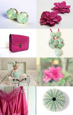 Mint and Magenta by Theodora Pap on Etsy--Pinned with TreasuryPin.com