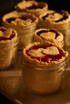 Mini Cherry Pie in a Jar : Recipe ~ #healthy Dessert| http://your-perfect-dessert.lemoncoin.org