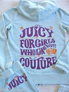 Juicy Couture Kids Girls Track Tracksuit Hoodie Pants Who Like Stuff