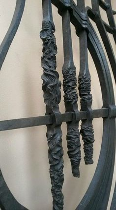 Various Twisted Wrought Iron Bars Blacksmithing