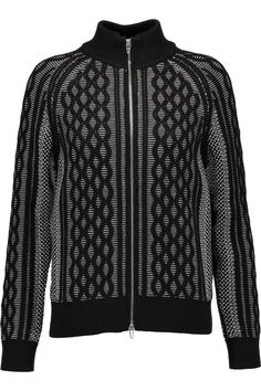 T BY ALEXANDER WANG Cable-Knit Cardigan. #tbyalexanderwang #cloth #cardigan