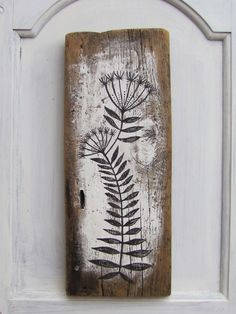 Original Painting on Antique Barn Board - Rustic and Beautiful - Painting No 2 by pipodoll on Etsy