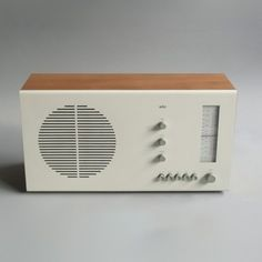 Braun RT 20 tischsuper (beech / white), clean simple Dieter Rams design