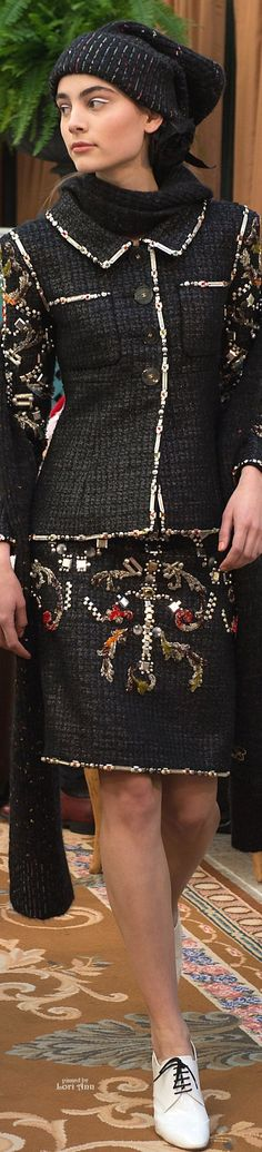 Chanel Pre-Fall 2017....looking like Chanel again, better than the last few collections, using the basic feel of Chanel but adding 21st century styling and adornments. Stunning