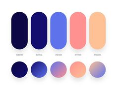 32 Beautiful Color Palettes With Their Corresponding Gradient Palettes - farben - Ui Palette, Flat Color Palette, Colour Pallette, Pantone Colour Palettes, Pantone Color, Ui Color, Gradient Color, Orange Color Schemes, 2 Color Combinations