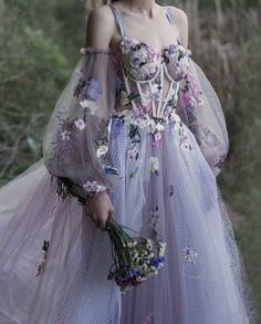 """la femme dans l'art on Twitter: """"Lavender Mousse Gown by Chotronette… """" Elegant Dresses, Pretty Dresses, Vintage Dresses, Beautiful Dresses, Vintage Ball Gowns, Sweet 15 Dresses, Elegant Ball Gowns, Sweet Dress, Gorgeous Dress"""