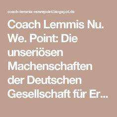 Coach Lemmis Nu. We. Point: Die unseriösen Machenschaften der Deutschen Gesellschaft für Ernährung (DGE)