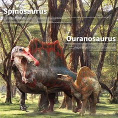 Spinosaurus&Ouranosaurus .making on Behance