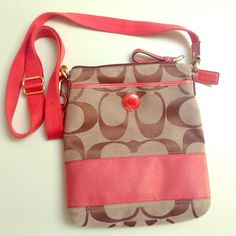 Peach Coach purse Never used. Tags + care instructions still inside. Coach Bags Shoulder Bags