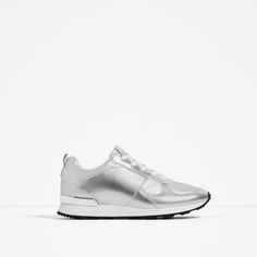 Image 1 of METALLIC SNEAKERS from Zara