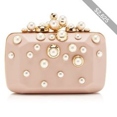 Elie Saab Small Pearl Embellished Clutch