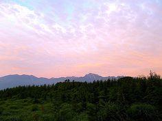 甲斐駒ケ岳の朝焼け