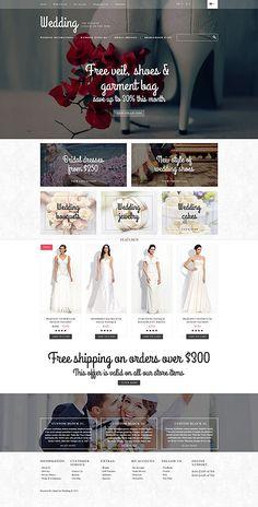 Wedding Portal #OpenCart #webtemplate #themes #business #responsive #template