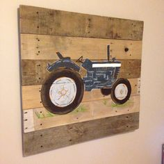 Hey, I found this really awesome Etsy listing at https://www.etsy.com/listing/249783968/tractor-art-blue-tractor20x20pallet